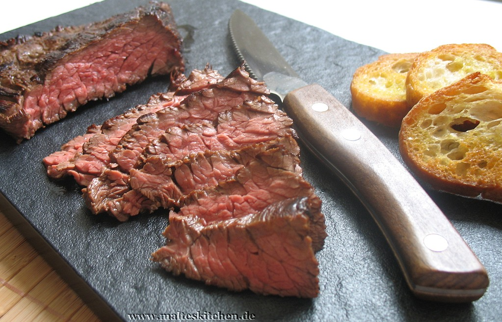 Das Flank-Steak London Style in voller Pracht.