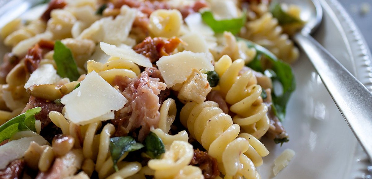 Rezept für einen italienischen Nudelsalat