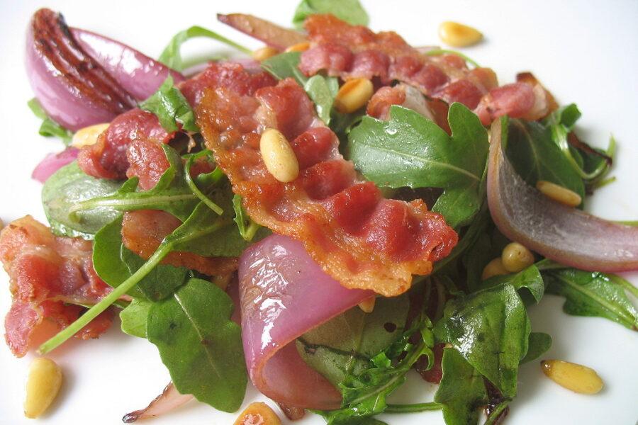 Rezept warmer Rucola Salat nach Jamie Oliver