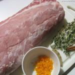 Schweinerücken an Orangensauce mit goldenen Kartoffeln