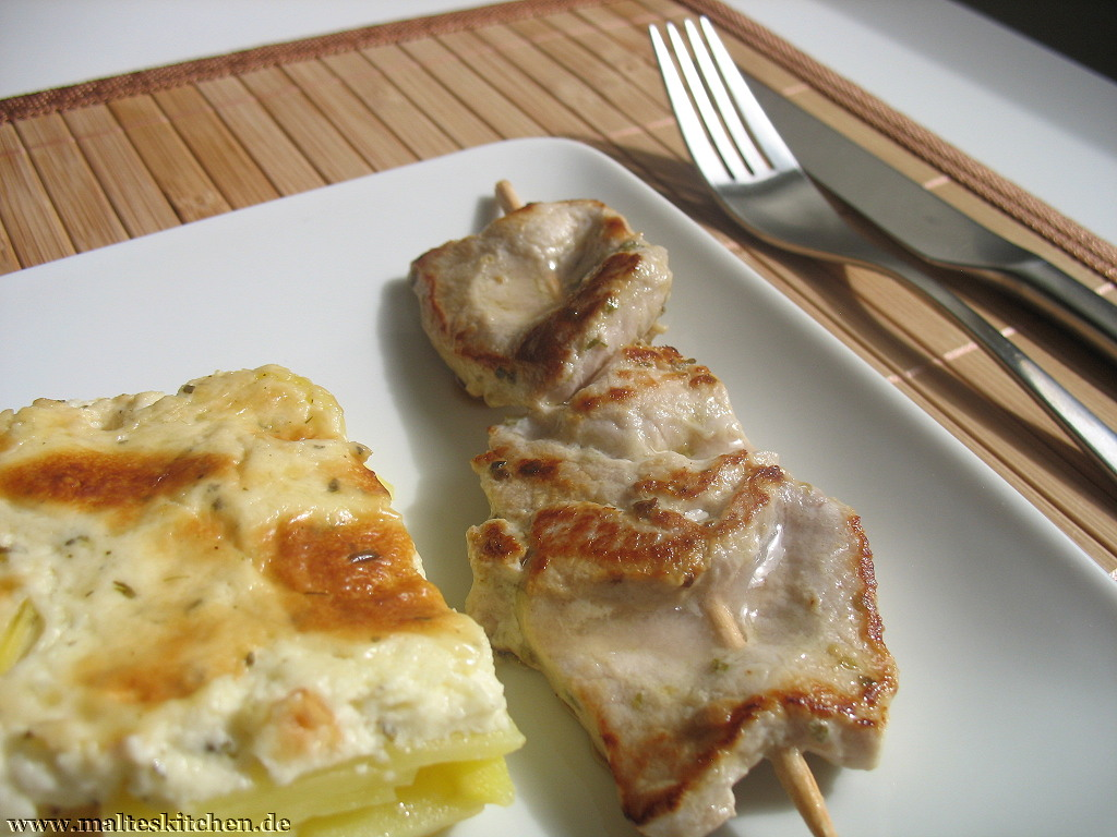 Souvlaki ist einfach immer lecker und wirklich schnell zubereitet.