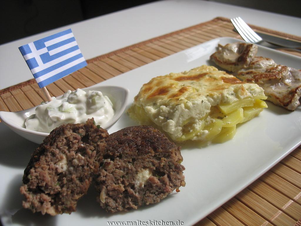 Das EM-Gericht - Souvlaki, Bifteki, Zaziki und Kartoffenl nach kretischer Art