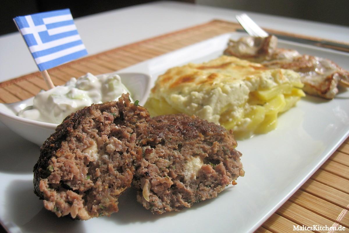 Rezept für Souvlaki und Bifteki