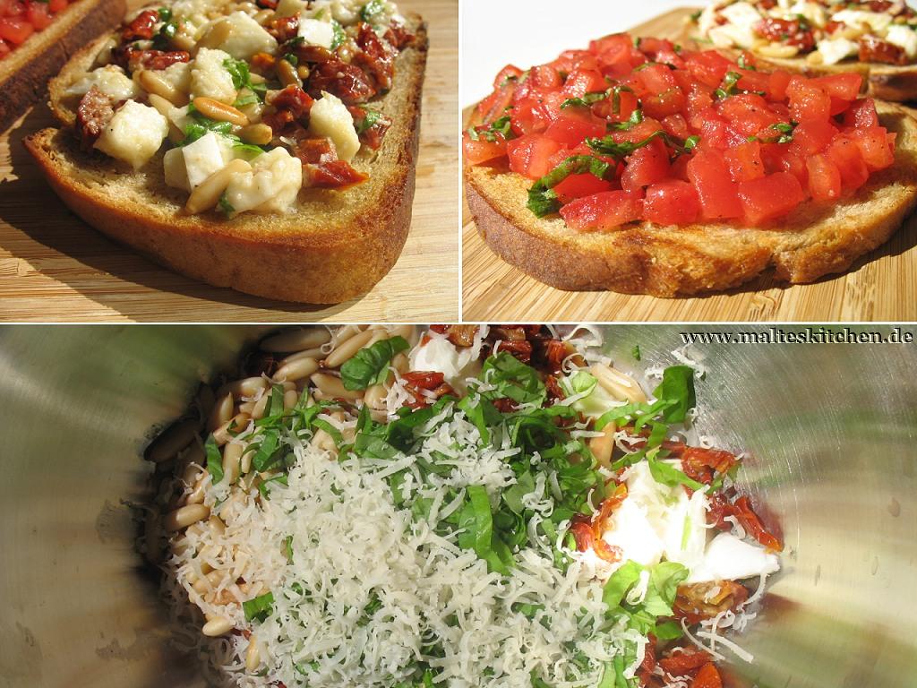 Bruschetta klassich mit Tomaten oder mit Büffel-Mozarella