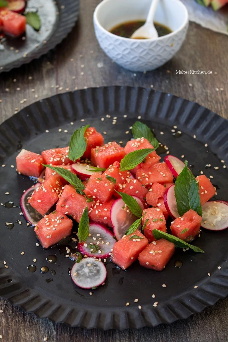 Super erfrischender Wassermelonen-Salat
