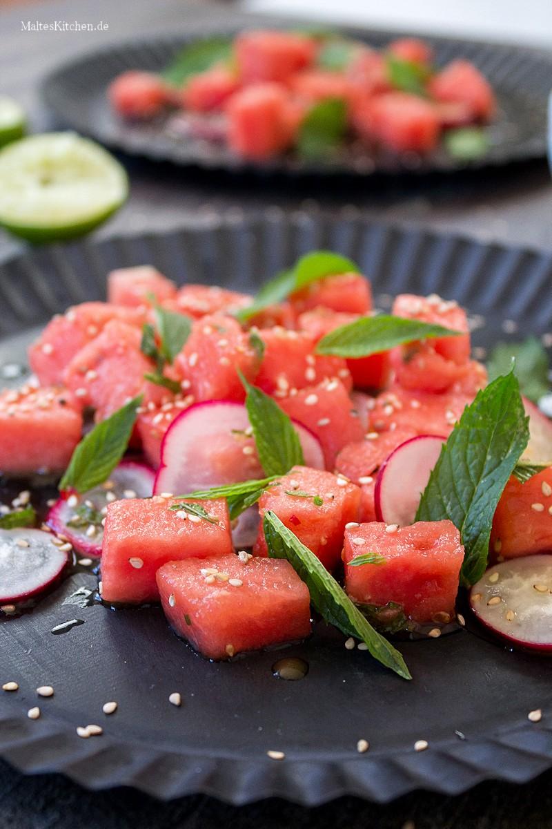 Saftiger Wassermelonen-Salat