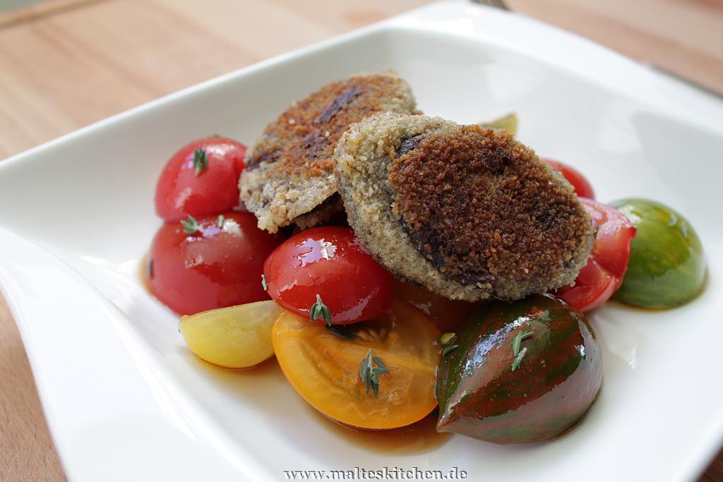 Die Kombination zwischen süß-sauren Tomaten und herzhafter Blutwurst passte super!