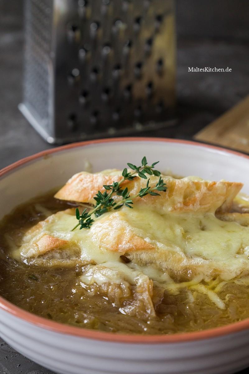 Leckere Zwiebelsuppe nach Jamie Oliver Rezept