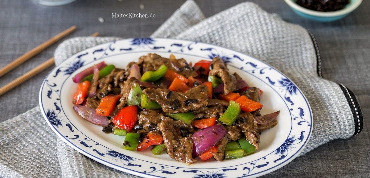 Rezept für Rindfleisch in schwarzer Bohnensauce