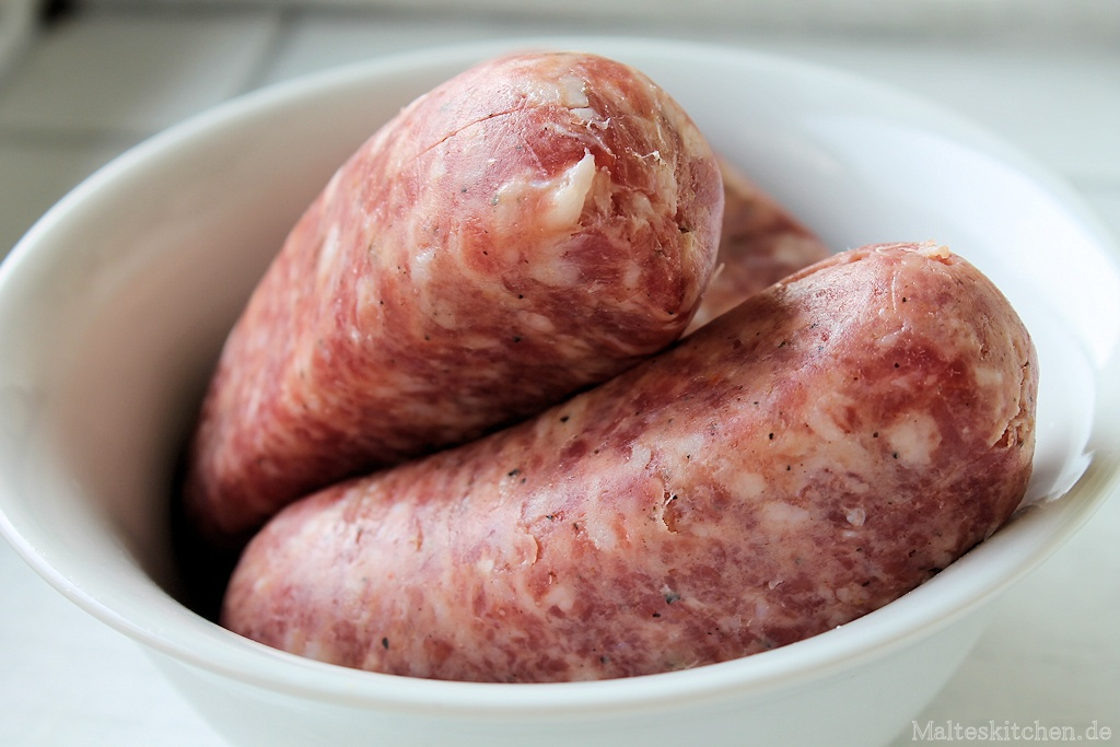 Salsiccia - hier mit entferntem Darm
