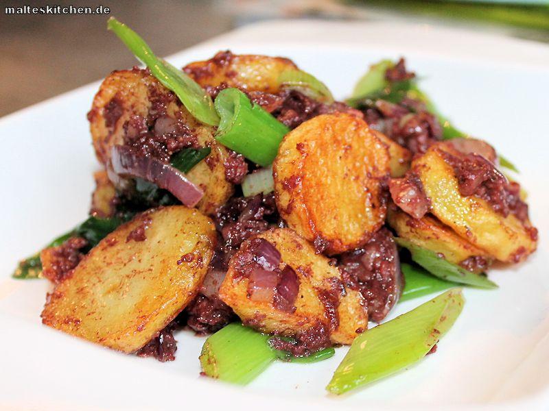 Bratkartoffeln mit Blutwurst