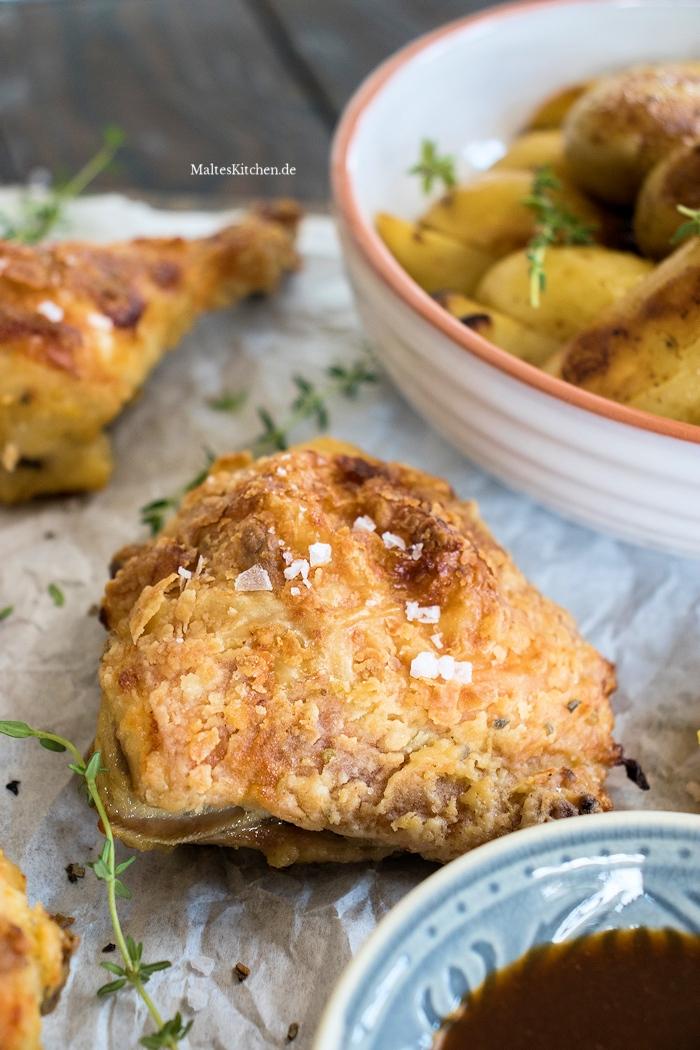 Super knuspriges Backhähnchen aus dem Ofen