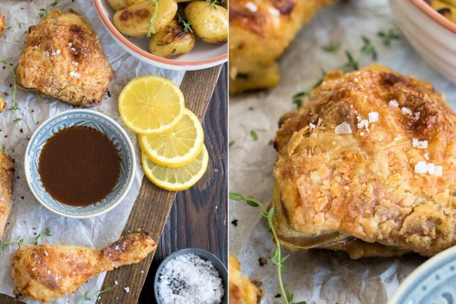 Rezept für Fried Chicken - Backhähnchen aus dem Ofen