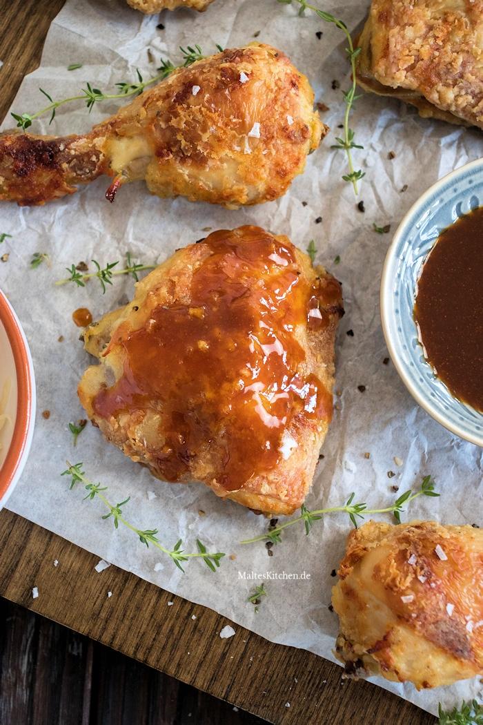 Fried Chicken mit Würzsauce