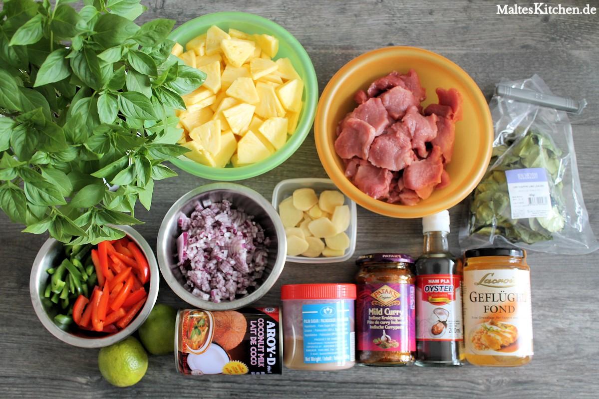 Rezept Rotes Curry mit Schweinefleisch