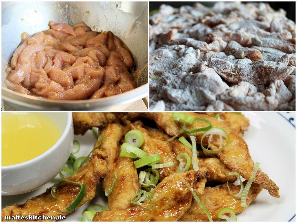 Kantonesischen Huhn in der Zubereitung