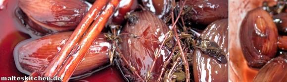 Rezept für die Rotweinschalotten-Sauce
