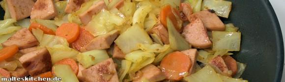 Rezept Weißkohl-Wurst-Pfanne