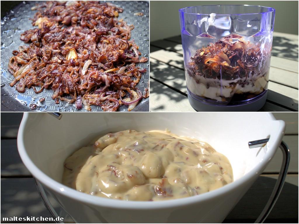 Rezept für eine leckeren Zwiebel-Dip