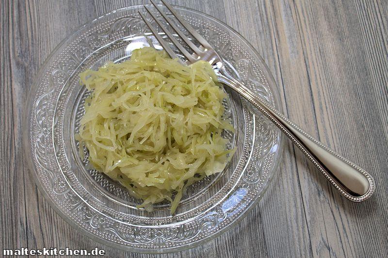 Ein sehr leckerer selbstgemachter Krautsalat