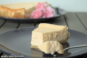 Ein sehr cremiger Low Carb New York Cheesecake