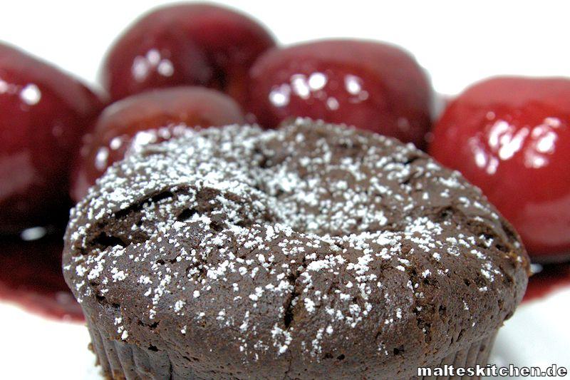 Ein tolles Dessert der warme Schokoladenkuchen