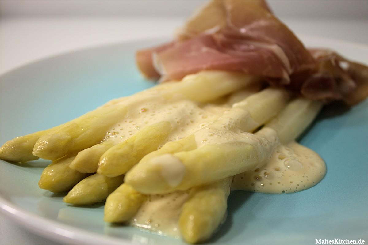 Rezept Spargel mit Parmesansauce