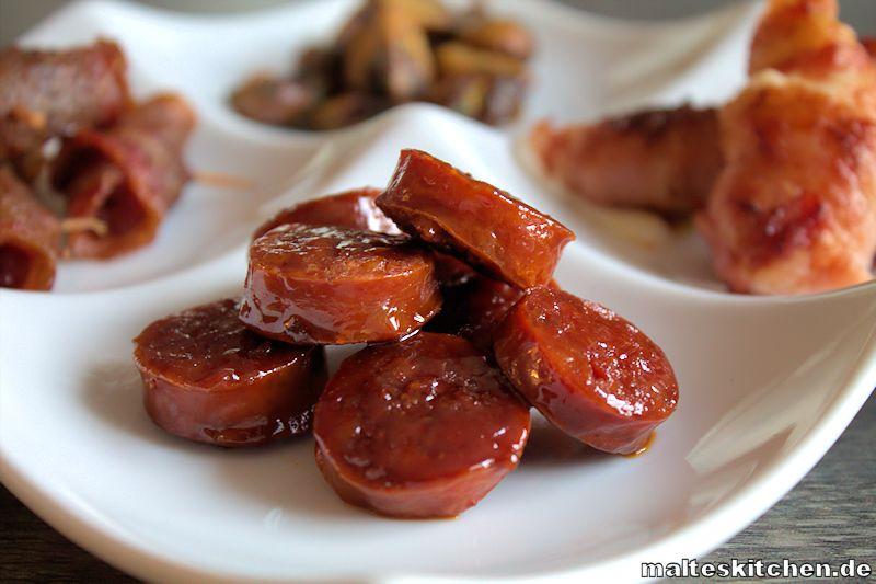 Tapas glasierte Chorizo
