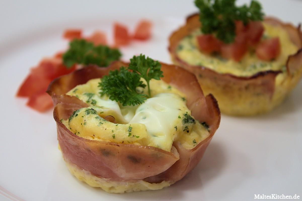 Rezept für Low Carb Eier-Schinken-Muffins