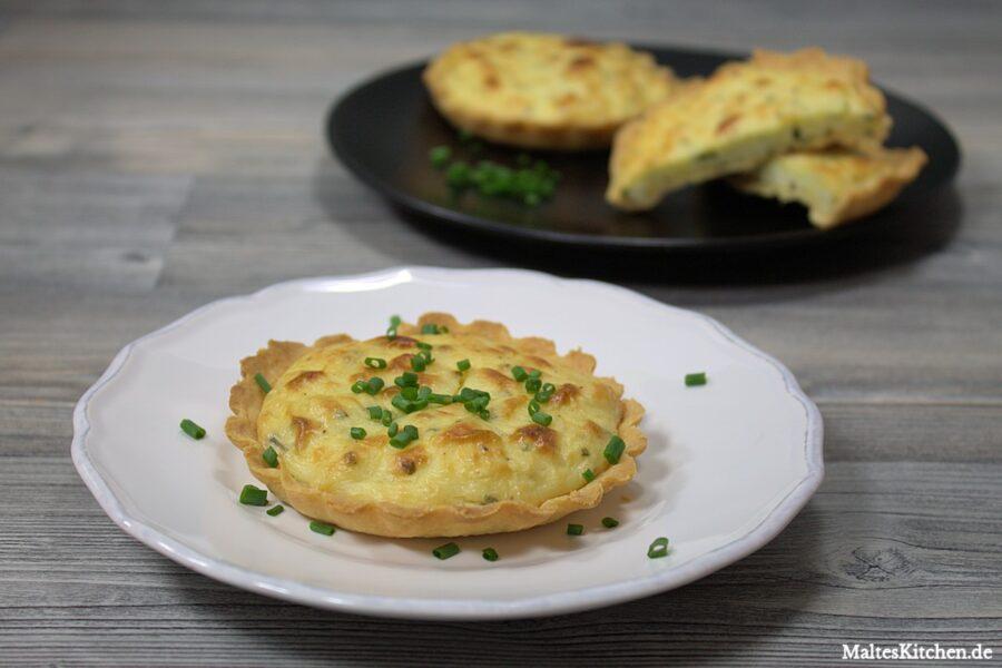 Rezept für eine Kartoffeltarte mit Ziegenkäse