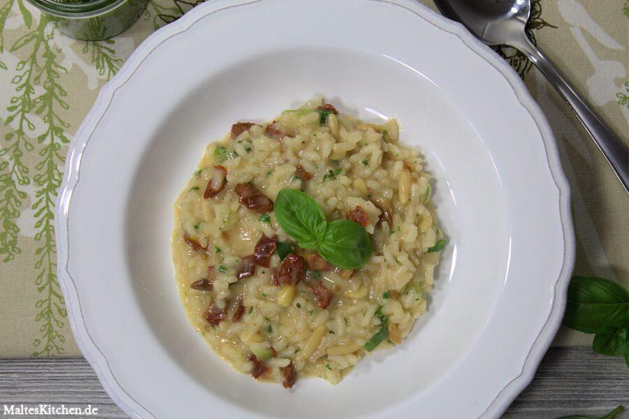 Rezept für ein Pinienkern-Frühlingszwiebel-Risotto