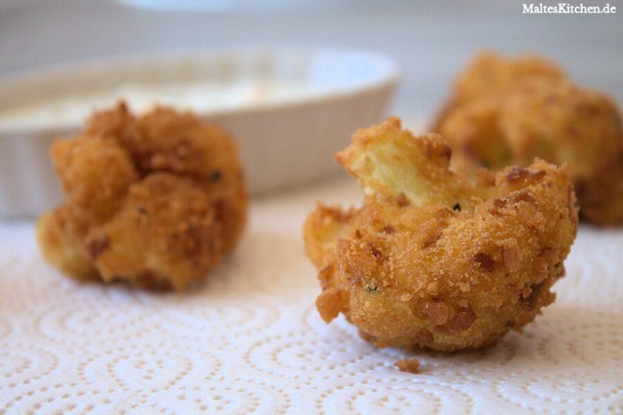 Rezept für frittierten Blumenkohl mit Sauce Tartare
