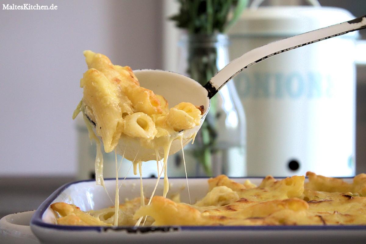 Rezept Nudelauflauf mit Lauch und Käse nach Tim Mälzer