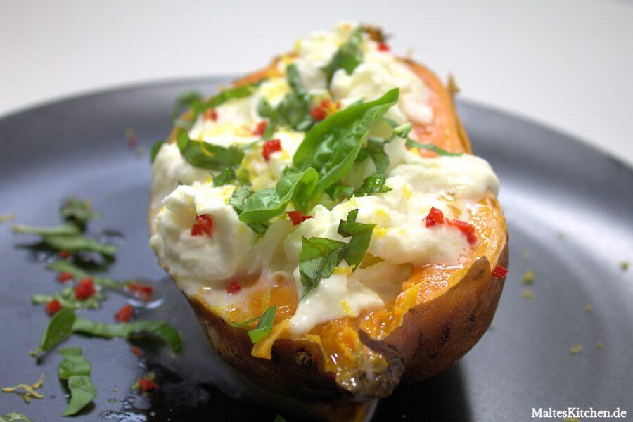 Rezept gebackene Süßkartoffel nach Jamie Oliver