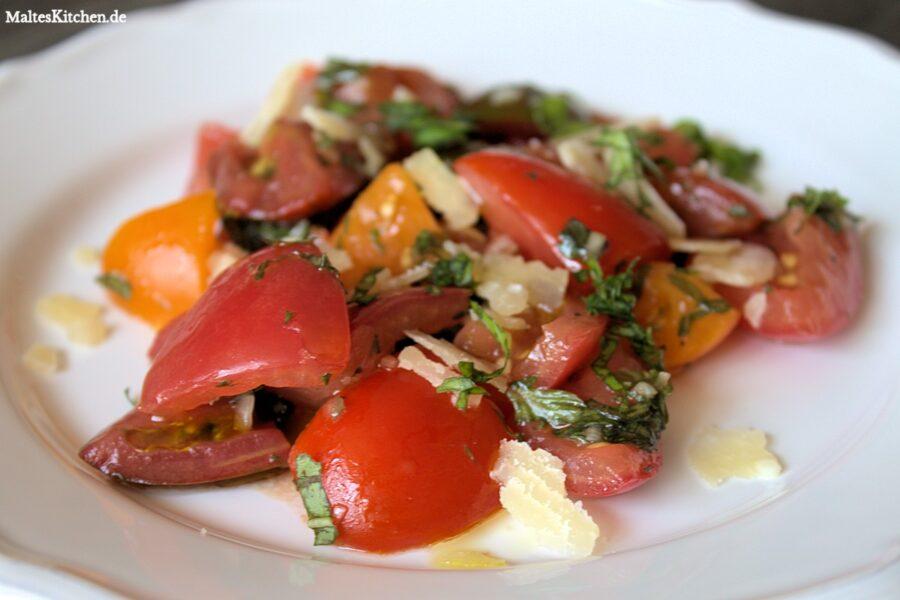 Rezept für einen Tomatensalat Caprese
