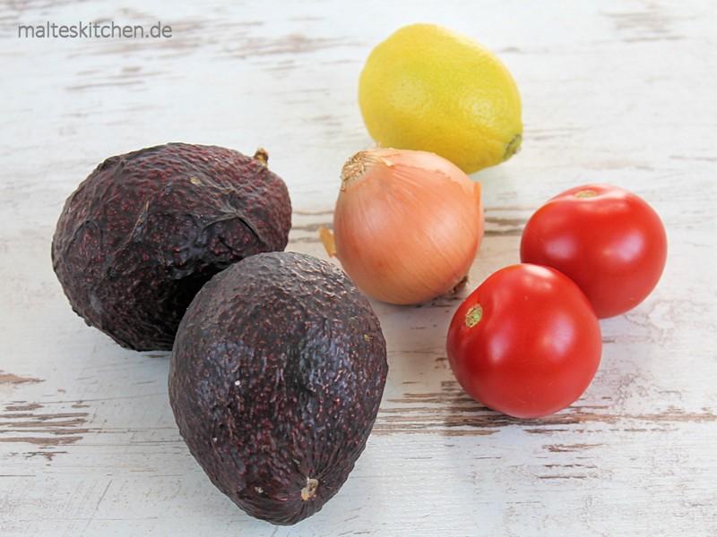Ein paar Zutaten für die Guacamole