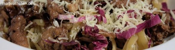Rezept für Bavette mit Fleischsugo und Radicchio nach Cornelia Poletto