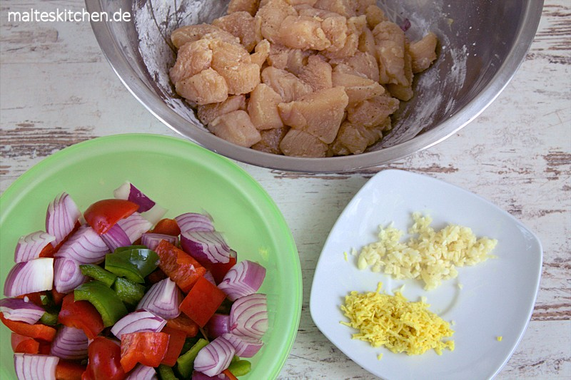 Frische Zutaten, die im Wok ruckzuck zu einem leckeren Gericht werden.