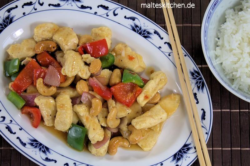 Sehr würzig, sehr lecker das Kung Pao Chicken