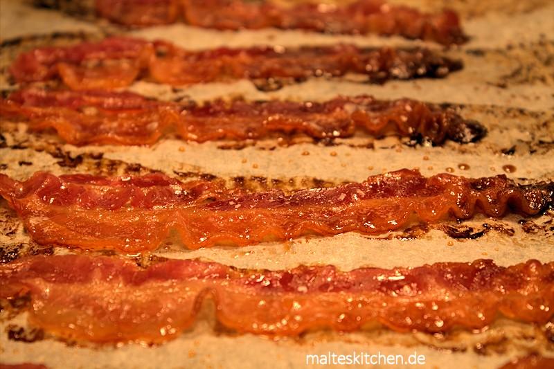 Knuspriger Bacon aus dem Ofen - lecker!