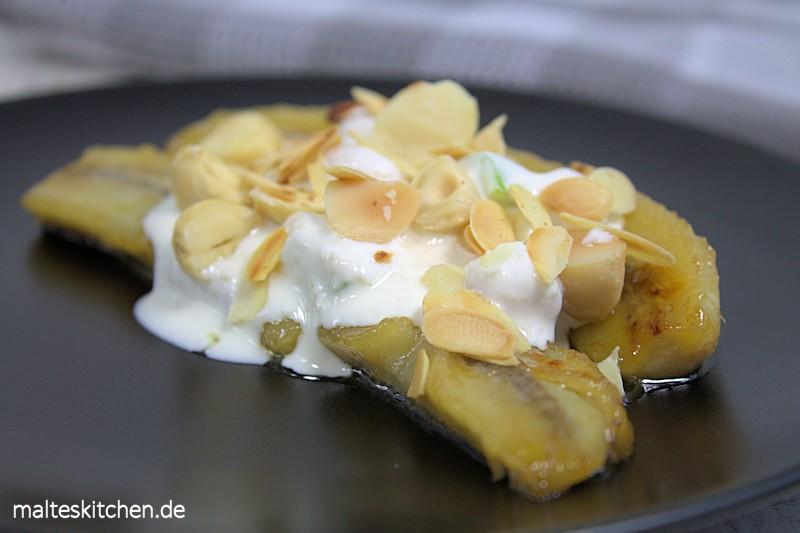 Ein leckeres Bananen-Split-Müsli