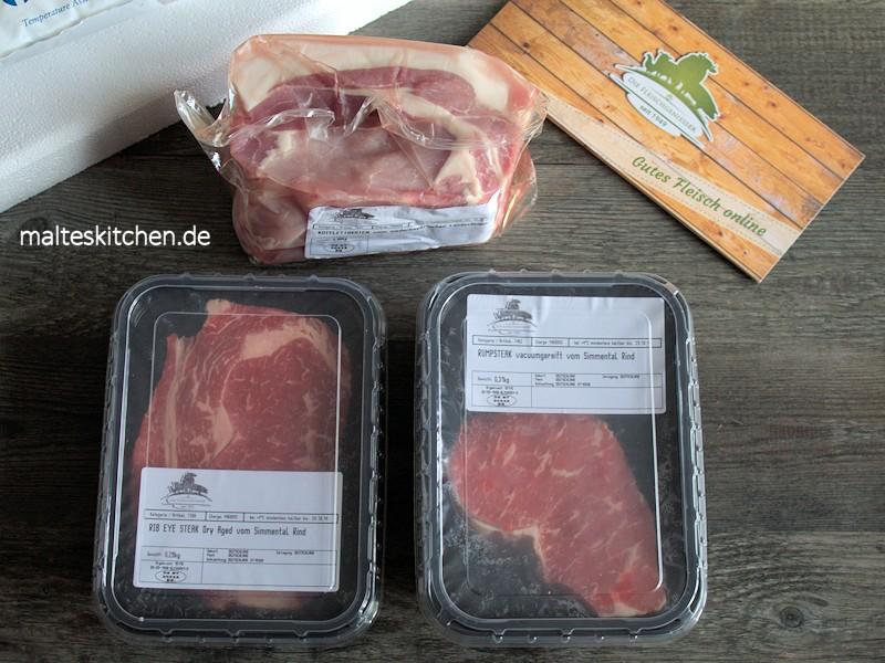 Das Fleisch kam gut verpackt und gut gekühlt.