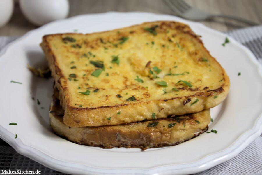 Rezept für einen French Toast mit Parmesan
