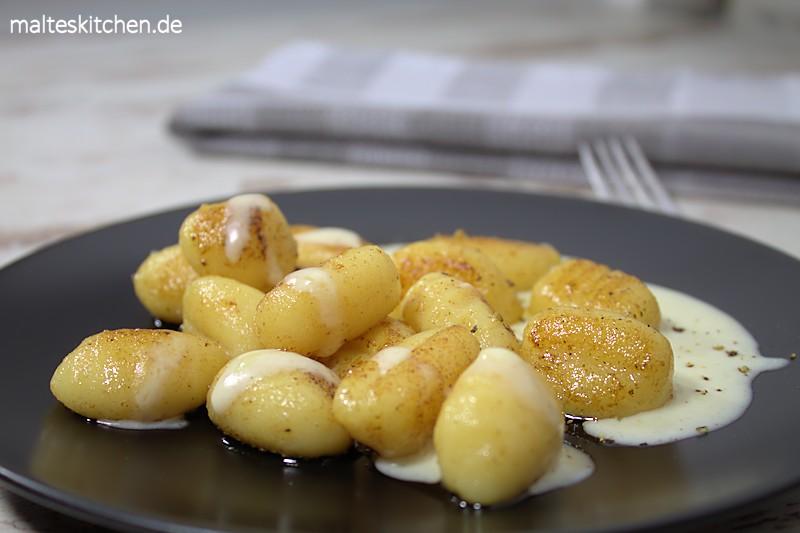 leckere Gnocchis in einer Käse-Sahne-Sauce