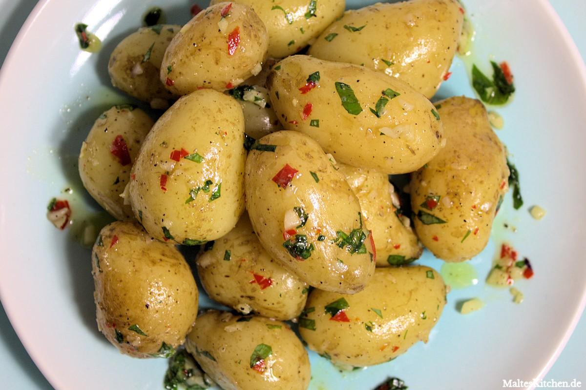 Rezept für Knoblauch-Chilli-Kartoffeln