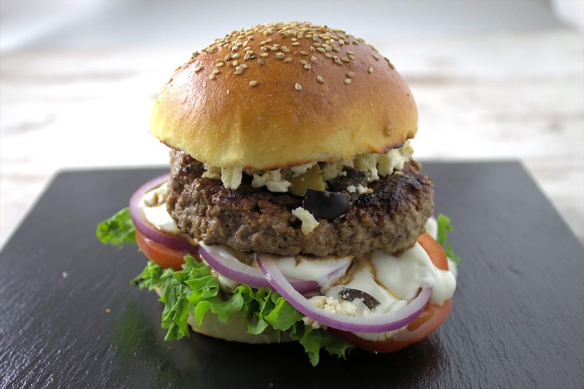 Mein Greekozilla Burger
