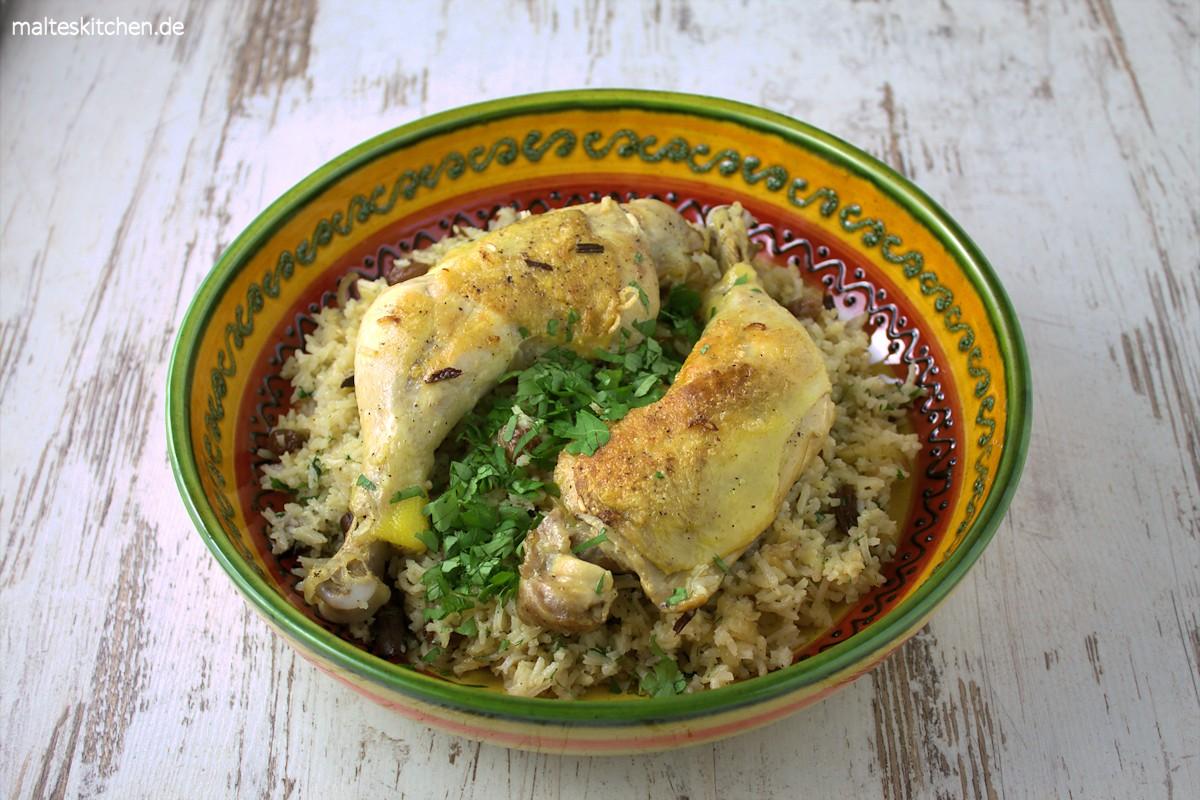 Rezept für Hähnchen mit Kardamomreis