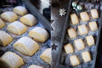 Rezept für mürbe Marzipankissen als Weihnachtsplätzchen