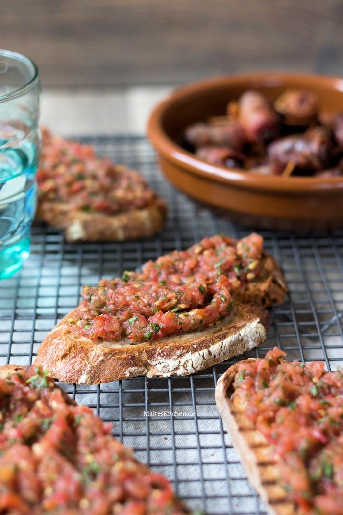 Brot mit Tomate auf spanische Art