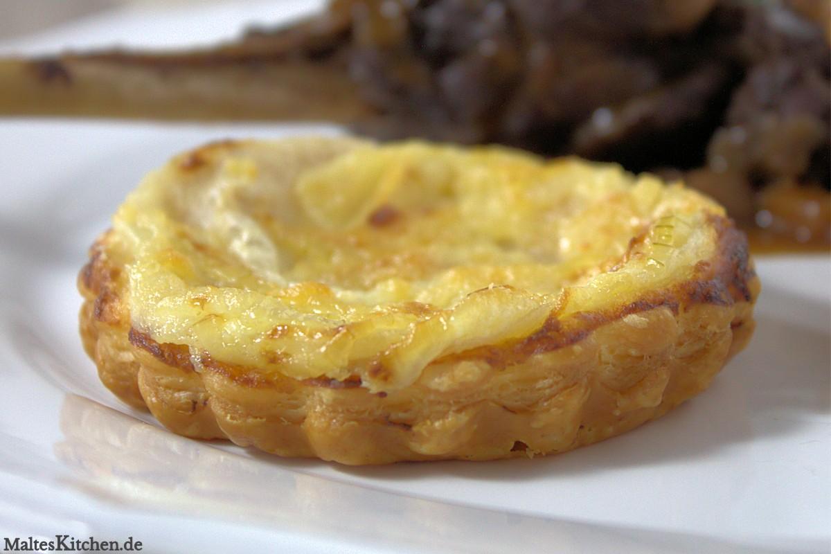 Rezept für eine Birnen-Zwiebel-Tarte